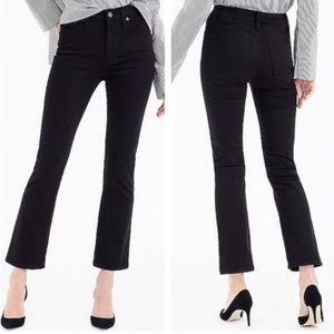 J. Crew Billie Demi Boot Crop Jeans Black Tall